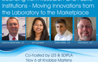 Nov 6 Panel Discussion sponsored by LES and SDIPLA