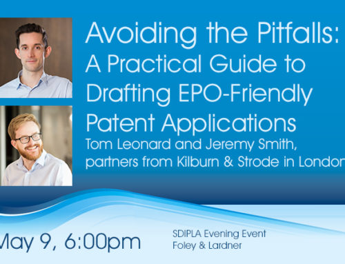 May 9 Evening Event – Board Election & Drafting EPO Friendly Patent Applications