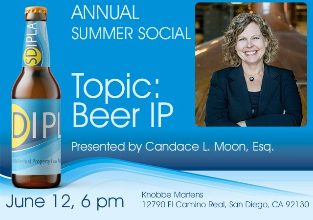 Topic: Beer IP Presented by Candace L. Moon, Esq.