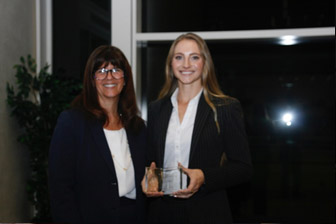 First place winner Hollie Jessica Kucera from Trestle Law, APC with The Honorable Judge Cathy Ann Bencivengo of the US District Court for the Southern District of California