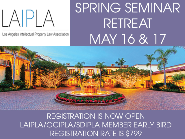 Register for the LAIPLA Spring Seminar Retreat May 16 - 18
